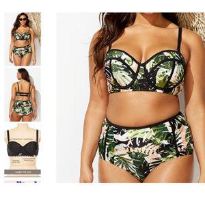 2pc underwire Everglades bikini swimsuit 110h3*